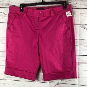 The Limited Bermuda shorts fucsia stretch New